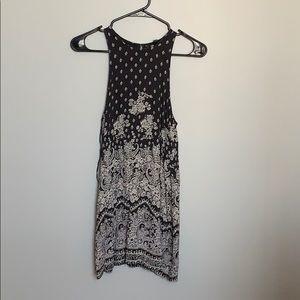 Grey mini dress with peekaboo back